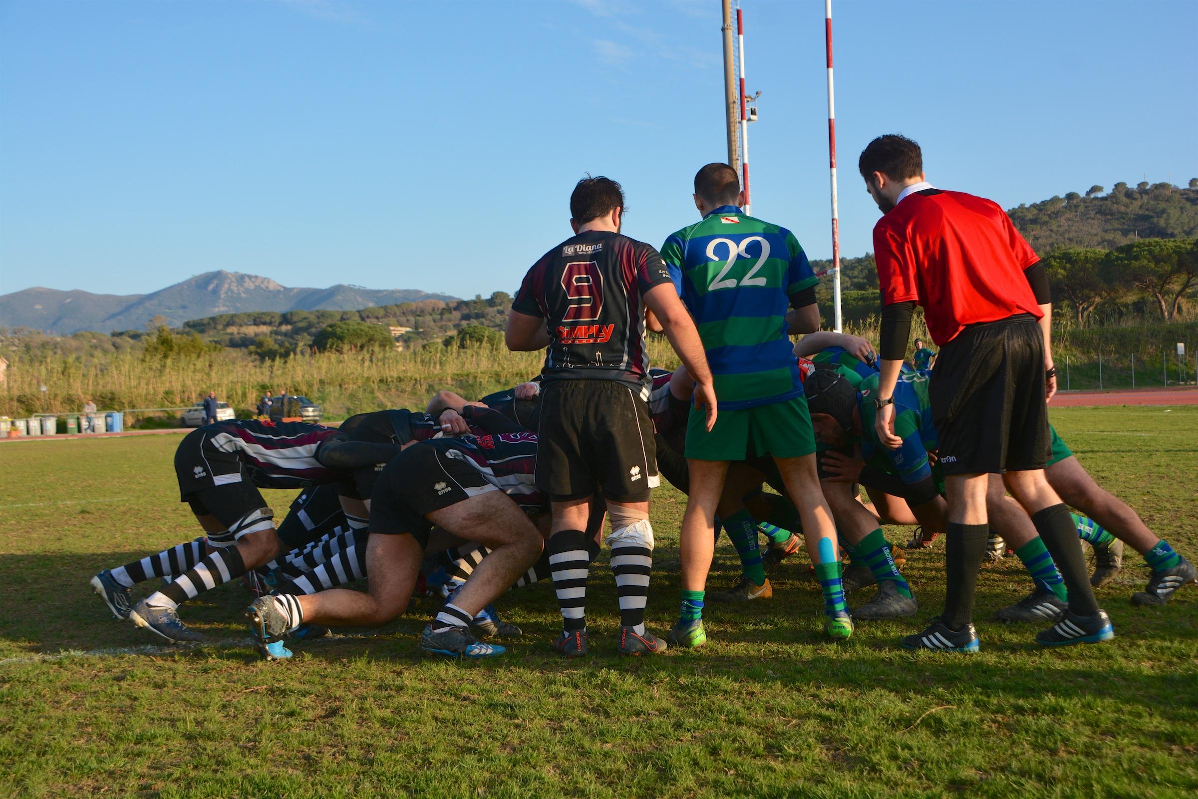 Banca CRAS CUS Siena Rugby all'Isola d'Elba.